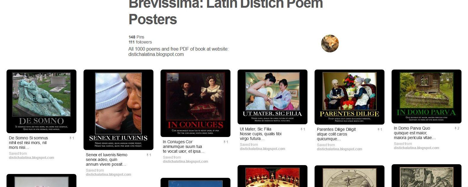 Brevissima, 1001 Tiny Latin Poems