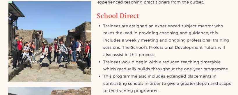 Exciting Opportunity for a Classics Trainee Teacher!