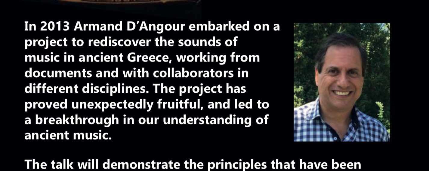 'Can we discover the music of Ancient Greece?', a talk by Armand D'Angour
