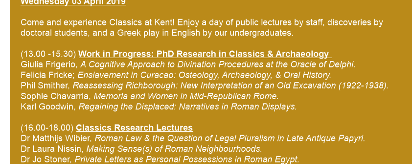 University of Kent Classics Day