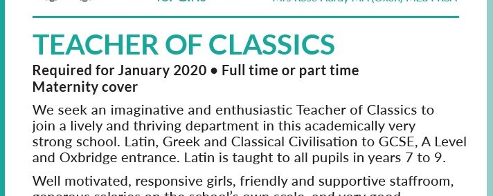 JOB | Teacher of Classics, Haberdashers' Aske's School for Girls
