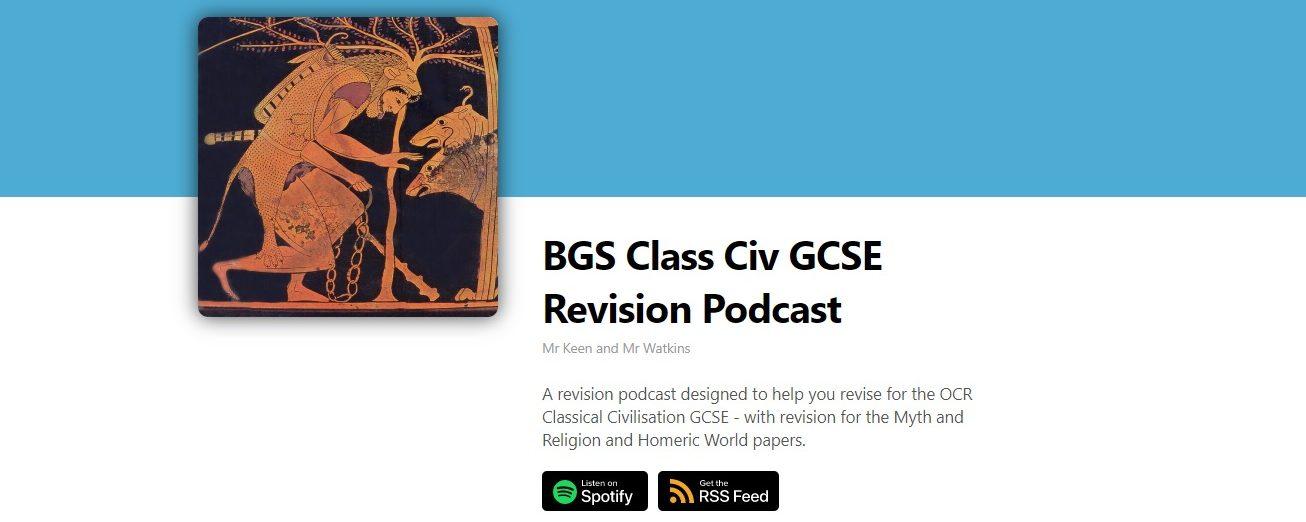 Podcasts for GCSE Classical Civilisation (Bristol Grammar School)