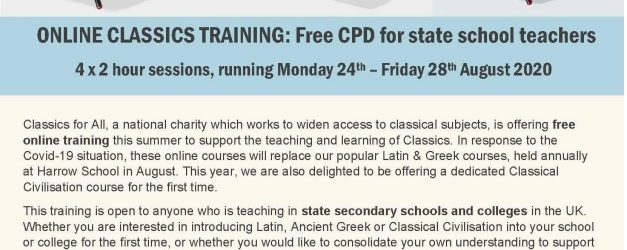 Online Classics Training: Free CPD for State School Teachers