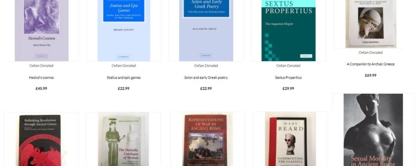 Discounted 'as new' Classics Books (to help Oxfam)