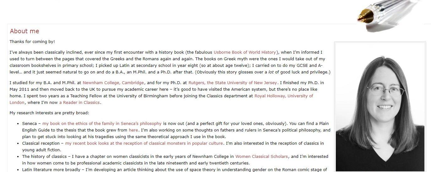 Liz Gloyn's Blogposts on Seneca (OCR A Level: 'Love and Relationships'