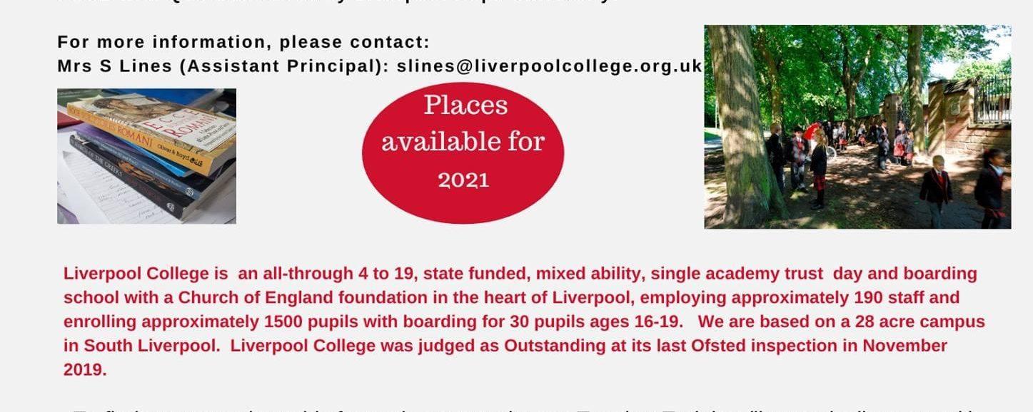 Classics Teacher Training with Liverpool College