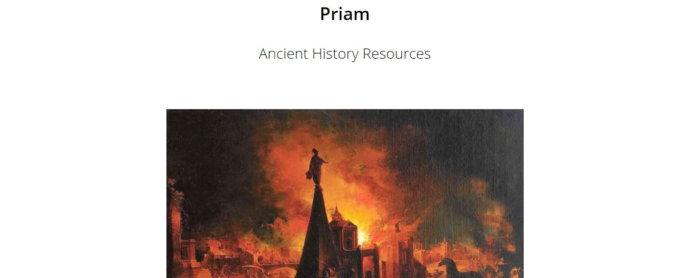Priam, an ancient history resource and hub